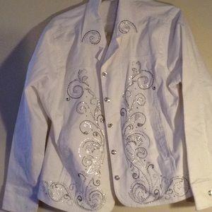 Jackets & Blazers - Rhinestone Jean jacket